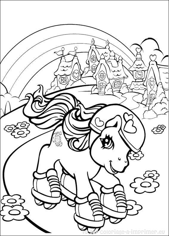 Coloriage A Imprimer Coloriage Mon Petit Poney 008
