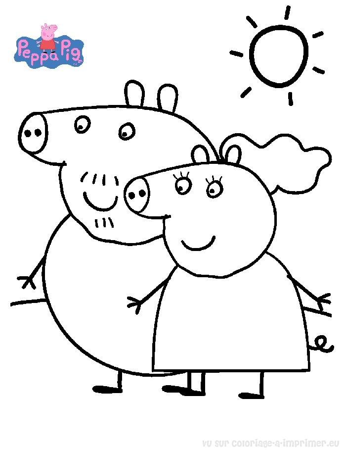 coloriage à imprimer coloriage peppa-pig 003