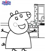 Coloriage Peppa Pig Gratuit A Imprimer