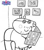 coloriage peppa-pig gratuit, a imprimer