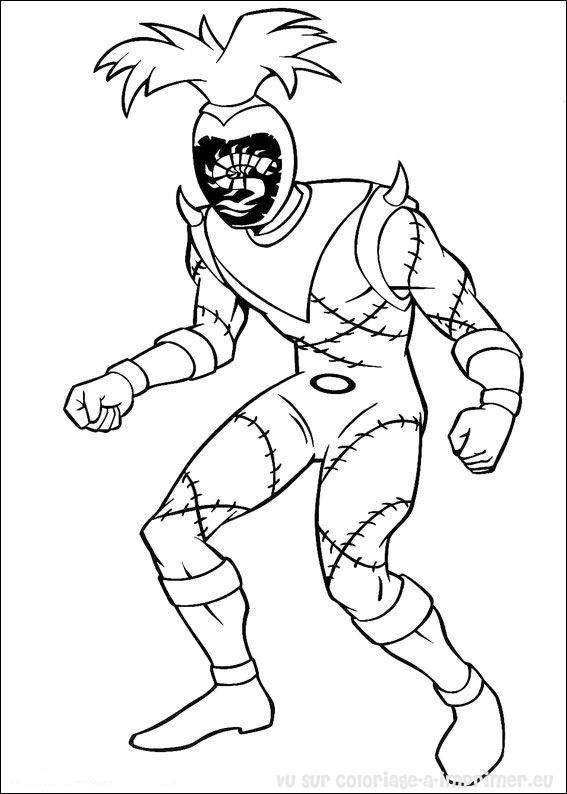 Coloriage A Imprimer Coloriage Power Ranger 016