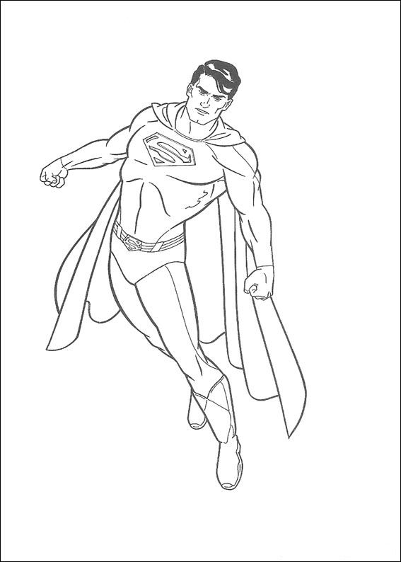 Index Of Coloriages Heros Tv Superman