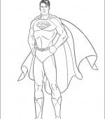 coloriage superman gratuit, a imprimer