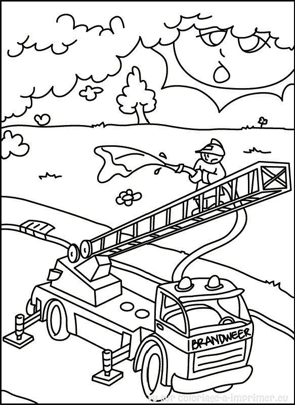 Coloriage A Imprimer Coloriage Pompier 000